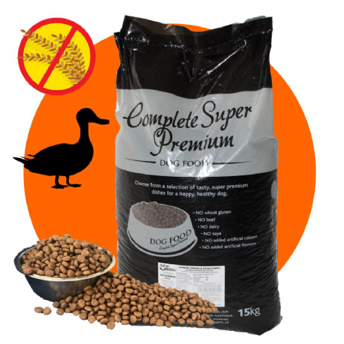 15kg Supreme Duck & Potato - Hypoallergenic - Complete GRAIN FREE Dog Food